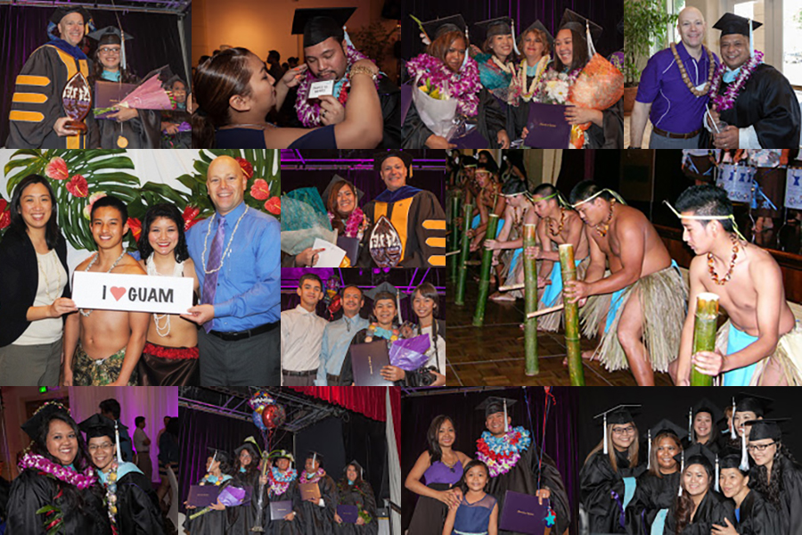 Collage of photos of Guam program students and graduates