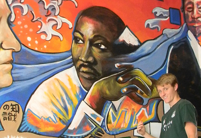 Mural painting of MLK